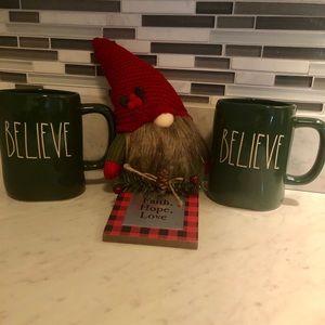 "Brand New "" Rae Dunn"" BELIEVE mugs (set)"
